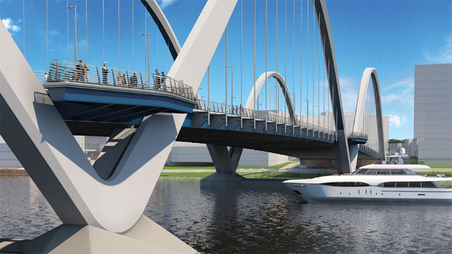 Rendering of new Frederick Douglass Memorial Bridge