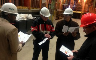 Photo of Don Edwards and JSA team on MGE plant tour